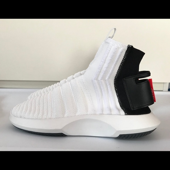 best service 91c3f b312e adidas Other - Mens Adidas Crazy 1 ADV Sock PK White Sz 8.5 Knit